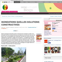 Blogs : INONDATIONS QUELLES SOLUTIONS CONSTRUCTIVES