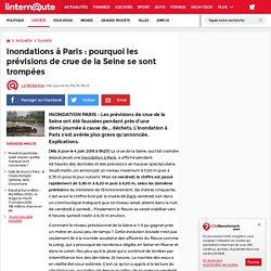 Inondations à Paris: pourquoi les prévisions de crue de la Seine se sont trompées
