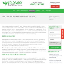 Inpatient Drug Treatment Centers Colorado, Residential Drug Treatment Program Colorado