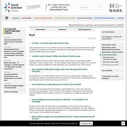 INPES - Baromètre santé environnement 2007 - Bruit