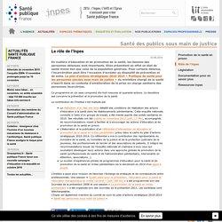 INPES - Santé en milieu pénitentiaire : le rôle de l'Inpes
