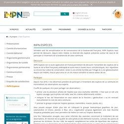 Biodiversité_INPN Espèces: découvrir la biodiversité autour de soi_application_Inventaire national du patrimoine naturel ( INPN)