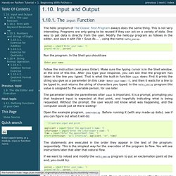 1.10. Input and Output — Hands-on Python Tutorial for Python 3.1