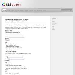 CSS input boxes and submit buttons