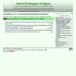 Mine de SALAU : un réveil inquiétant pour la vallée - Comité Ecologique Ariégeois
