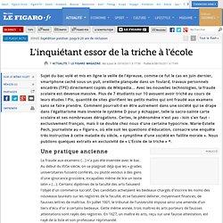 Le Figaro : la triche à l'école