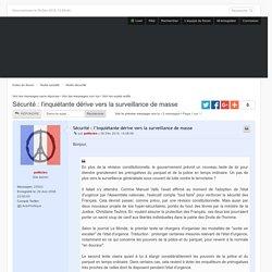 Sécurité : l'inquiétante dérive vers la surveillance de masse