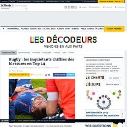 Rugby: lesinquiétants chiffres des blessures enTop14