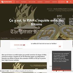 Ça y est, la RIAA s'inquiète enfin des Bitcoins - Politique