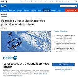 ex. l'envolée du franc suisse inquiète les professionnels du tourisme (2015)