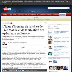 L'Idate s'inquiète de l'arrivée de Free Mobile en France et de la situation des télécoms en Europe
