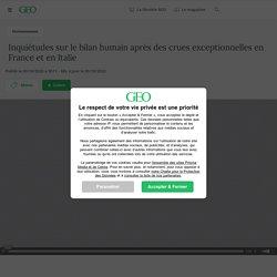 Publié le 03/10/2020 à 9h11 - Mis à jour le 05/10/2020 - Inquiétudes sur le bilan humain après des crues exceptionnelles en France et en Italie