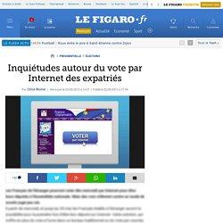 Inquiétudes autour du vote par Internet des expatriés