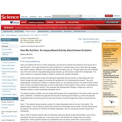 How We Got Here: An Inquiry-Based Activity About Human Evolution