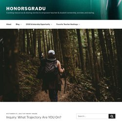 Inquiry: What Trajectory Are YOU On? – HonorsGradU
