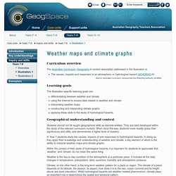 Weather maps and climate graphs