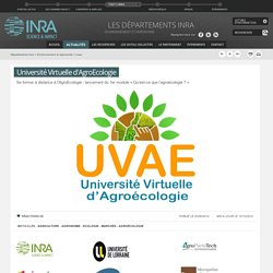 INRA 12/06/14 Université Virtuelle d'AgroEcologie
