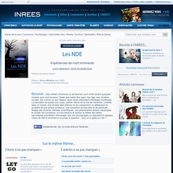 Livre Les NDE site INREE