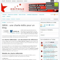 INRIA : une charte édito pour un blog