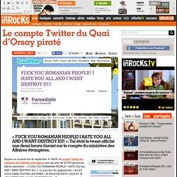 Le compte Twitter du Quai d'Orsay piraté