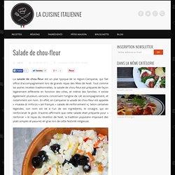 Salade de chou-fleur : l'insalata di rinforzo