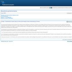 PARLEMENT EUROPEEN - Réponse à question E-006280-13 Insalubrité du travail dans le milieu des réseaux d'eaux résiduaires en Fran