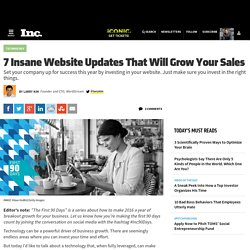 7 Insane Website Updates That Will Grow Your Sales