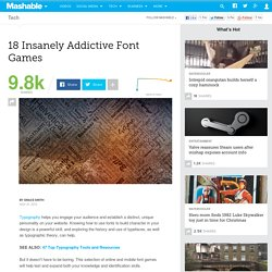 18 Insanely Addictive Font Games
