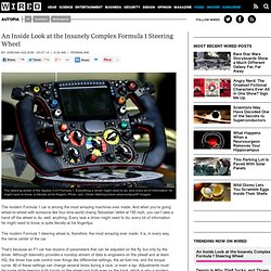 An Inside Look at the Insanely Complex Formula 1 Steering Wheel