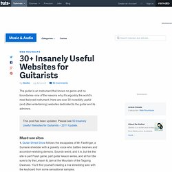 30+ Insanely Useful Websites for Guitarists - AUDIOTUTS
