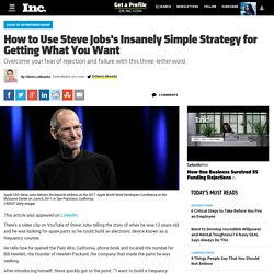 How to Use Steve Jobs's Insanely Simple Strategy for Getting What You Want