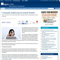7 insanely useful ways to search Twitter