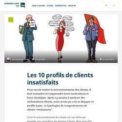 Les 10 profils de clients insatisfaits - la typologie des clients réclamants