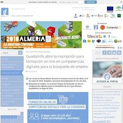 Guadalinfo abre la inscripción para formación on line en competencias digitales para la búsqueda de empleo