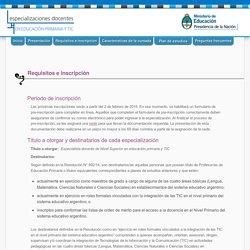 Especialización docente en Educación Primaria y TIC