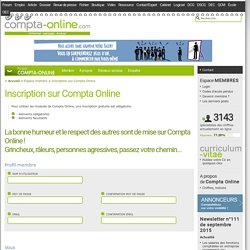 Inscription sur Compta Online