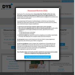 Inscription et connexion au site dys-positif.fr