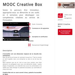 Inscription MOOC Créativité ESSCA - Septembre 2015 - ESSCA