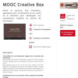 Inscription MOOC Créativité ESSCA - Septembre 2015 - AW - ESSCA