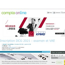 Inscription DCG 2021 : examen et VAE