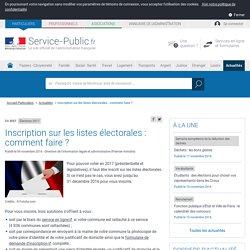 Élections 2017 -Inscription sur les listes électorales: comment faire?