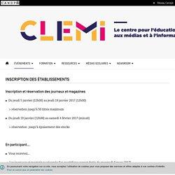 Inscription des établissements- CLEMI