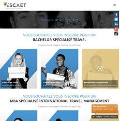 Procédure / Inscription en ligne - Escaet - École supérieure de commerce spécialisée Travel Management