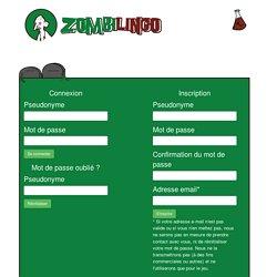 Connexion/Inscription - Zombilingo