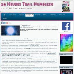 24h Trail HUMBLEZH - BREST Inscriptions