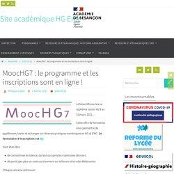 MoocHG7 : le programme et les inscriptions sont en ligne ! - Site académique HG Emc