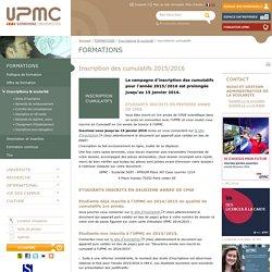 inscriptions cumulatifs -Université Pierre et Marie CURIE