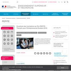 Ouverture des inscriptions au Prix PEPITE - Tremplin pour l'Entrepreneuriat Etudiant 2016