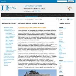 Inscriptions grecques et latines de la Syrie