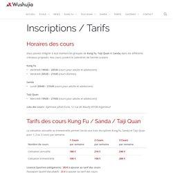Inscriptions / Tarifs / Horaires des cours